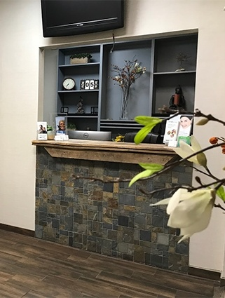 Hoboken dental office reception desk